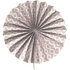 Rosace grise motifs losanges
