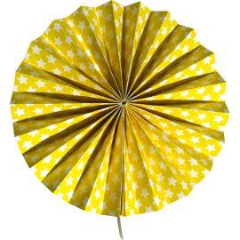 Rosace jaune motifs étoiles