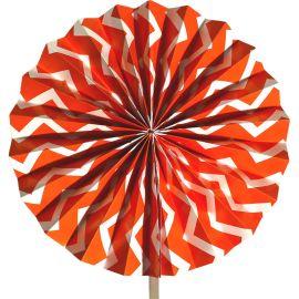 Rosace orange motifs chevrons