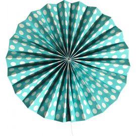 Rosace bleu turquoise motifs pois