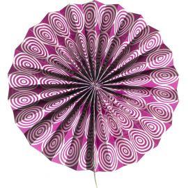 Rosace violet motifs spirales
