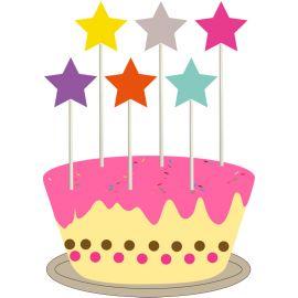 Cake topper étoile (par 6)