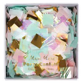 Confettis pastel et holographiques