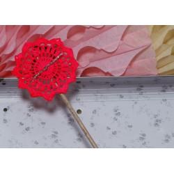 baguette dentelle - rose fluo