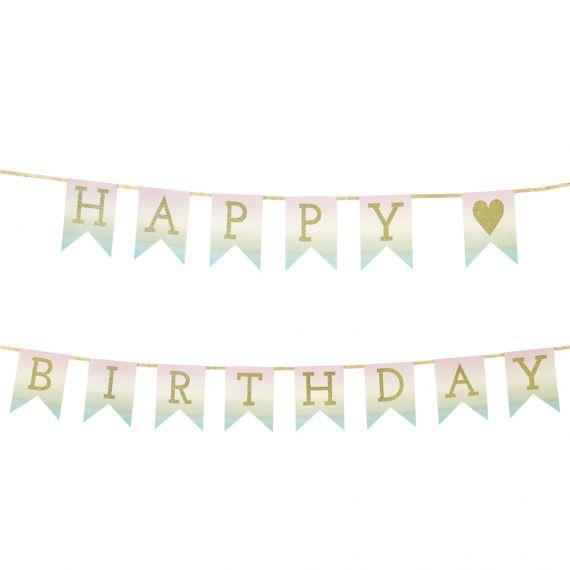 Guirlande anniversaire pastel