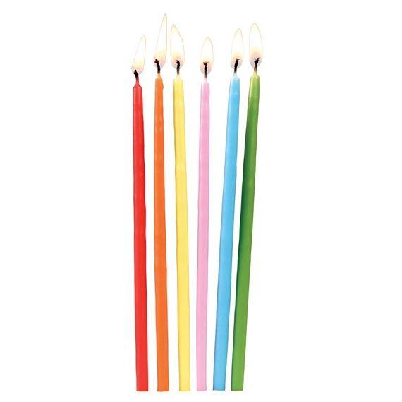 Bougies anniversaire toutes les couleurs