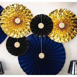 Rosaces bleu nuit et or