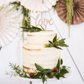 Cake topper mariage en bois découpe laser