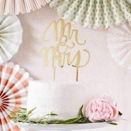 Figurine Mr et Mrs gâteau de mariage