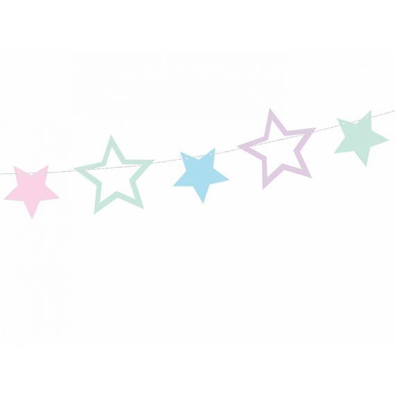 Guirlande étoile pastel