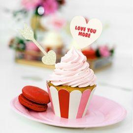 contenant à cupcakes rose et rouge