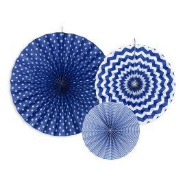 Rosaces bleu marine