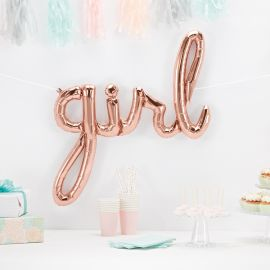 Ballon anniversaire fille rose gold