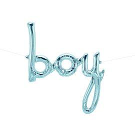 Ballon boy bleu métallisé
