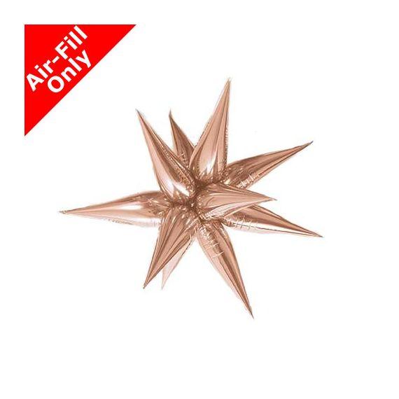 Ballon étoile rose gold 3D