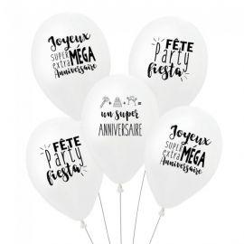 Ballons d'anniversaire à messages