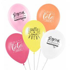 Ballons anniversaire pastel