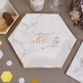 Assiettes marbre