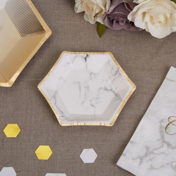 assiettes canapé marbre