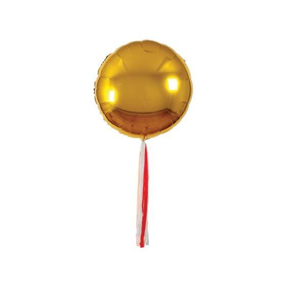 Ballons géants dorés et tassel