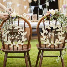 Décoration de chaises des mariés