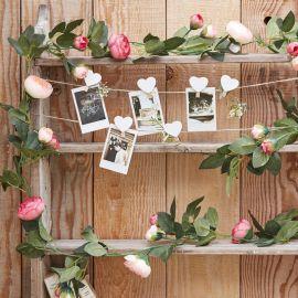 Guirlande de fausses fleurs roses