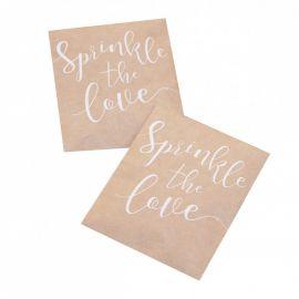 Confettis blancs papier de soie