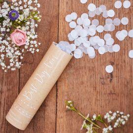 Mini lanceur de confettis blancs