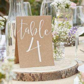 Numéro de table - par 12