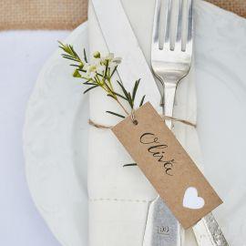 Etiquettes craft et coeur