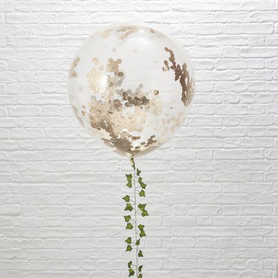 Ballon confettis rose gold