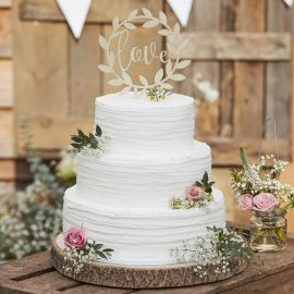 Cake topper Love en bois