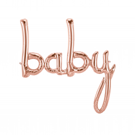 Ballon baby rose gold