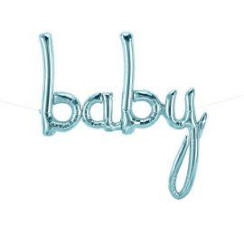 Ballon baby bleu