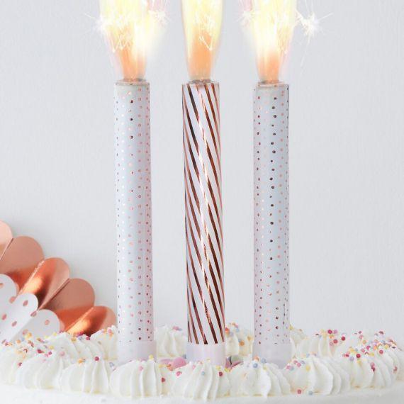 Bougies étincelle anniversaire
