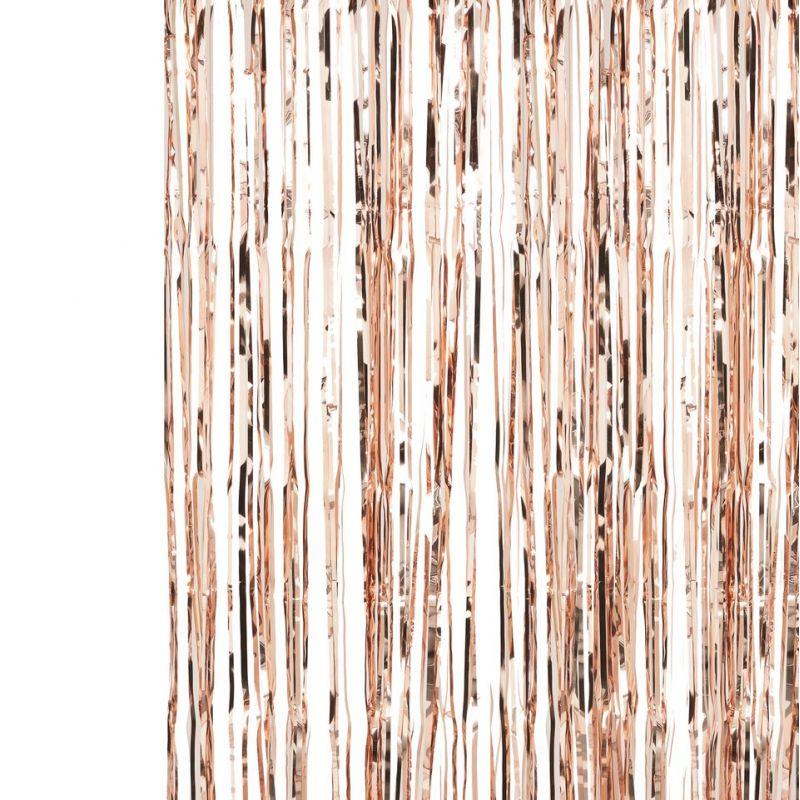 rideau franges rose gold modern confetti. Black Bedroom Furniture Sets. Home Design Ideas