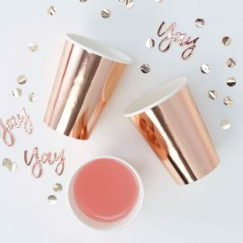 Gobelets rose gold (par 8)