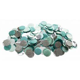 Confettis vert menthe et argent