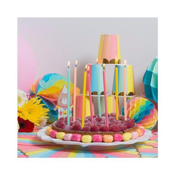 Grandes bougies anniversaire pastel