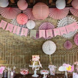 D coration pastel d licat modern confetti - Guirlande baby shower ...