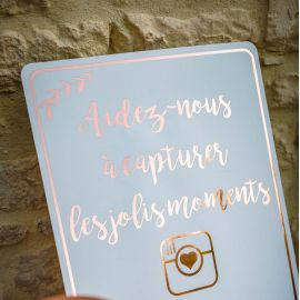 Panneau mariage réseaux sociaux