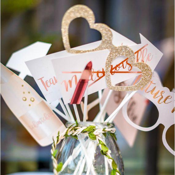 kit photobooth evjf et mariage rose gold modern confetti. Black Bedroom Furniture Sets. Home Design Ideas