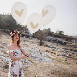 Ballons coeur (par 3)