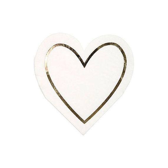 Serviettes forme coeur
