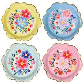 Assiettes jetables fleurs