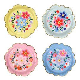 Mini assiettes fleurs