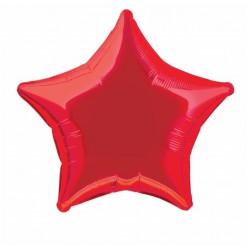 Ballon mylar étoile - rouge