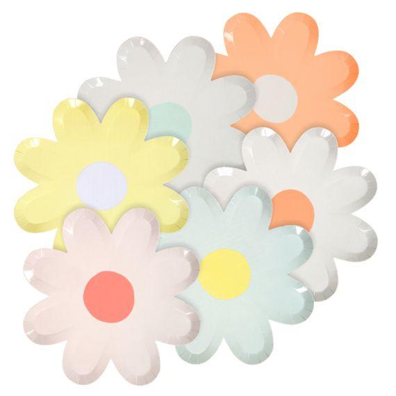 Mini assiettes forme fleur