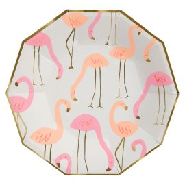 Assiettes flamant rose