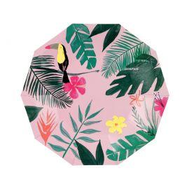 Petites assiettes thème tropicale